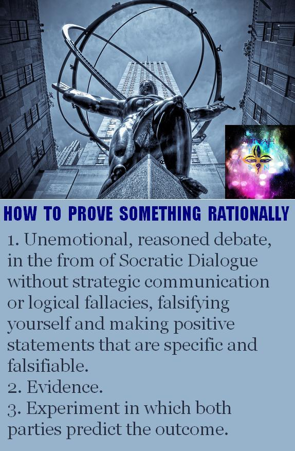 How to prove something rationally.
