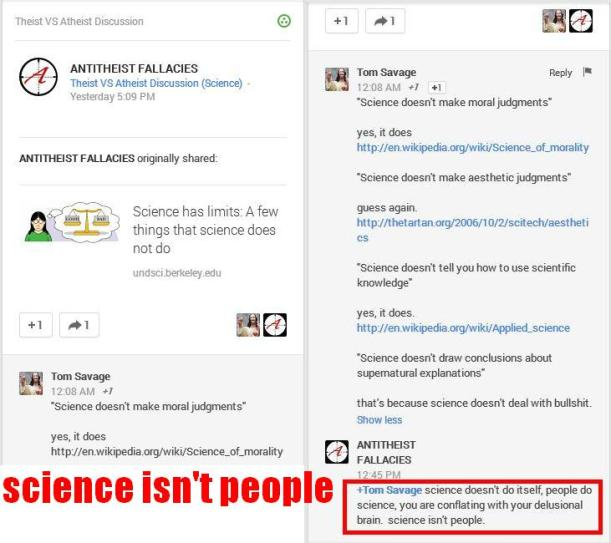 Science isn't people, it doesn't do itself.