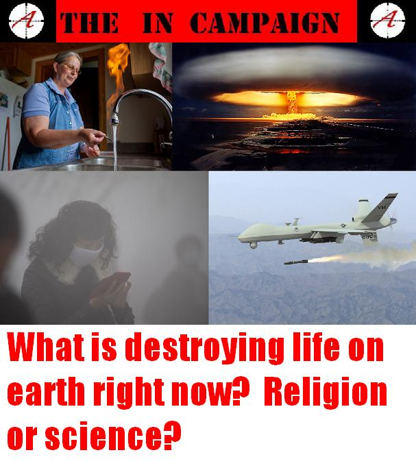 What is destroying life on earth?