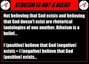 atheism is a belief
